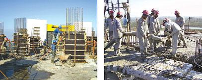 Apesar dos aspectos pouco comuns e das demandas especiais, a estrutura foi executada de forma convencional, enfrentando dificuldades apenas com o bombeamento do concreto a alturas elevadas