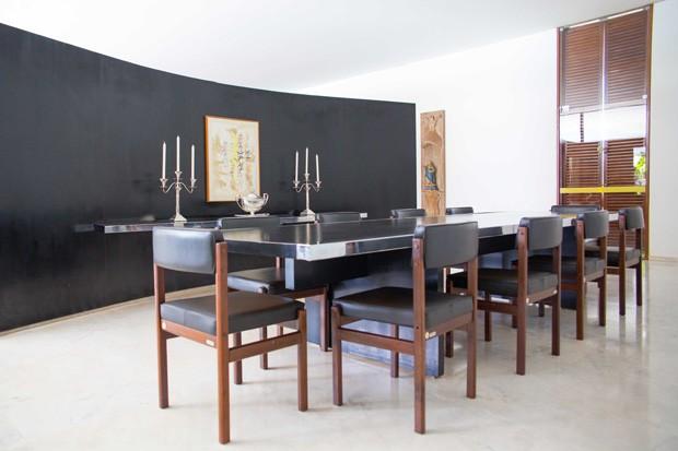 Sala de almoço do Palacio Jaburu. Foto: Anderson Riedel / Divulgação.