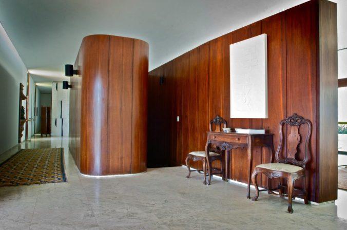 Detalhe do hall do Palácio Jaburu. Foto: Aluízio de Assis / Divulgação